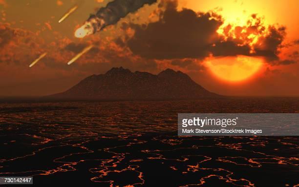 illustrations, cliparts, dessins animés et icônes de artist concept depicting the creation of a planet. - catastrophe aérienne
