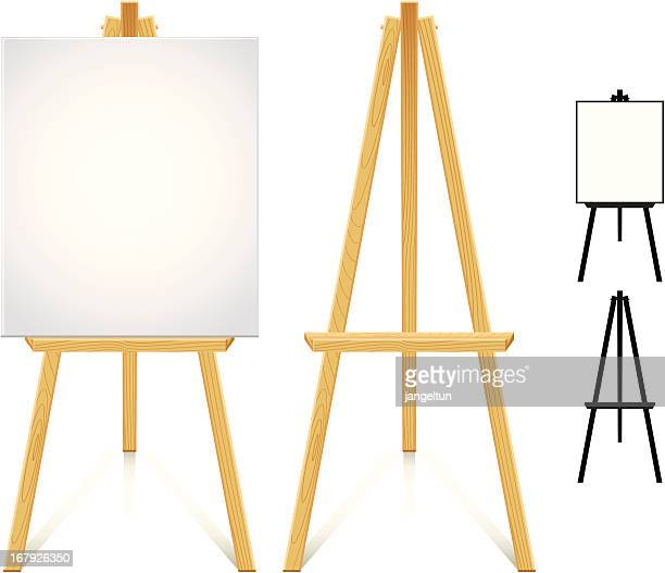 artist easel - easel stock illustrations