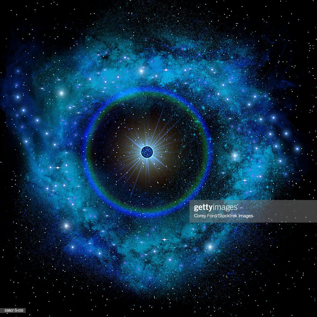 Artists concept of a supernova explosion. : Stock Illustration
