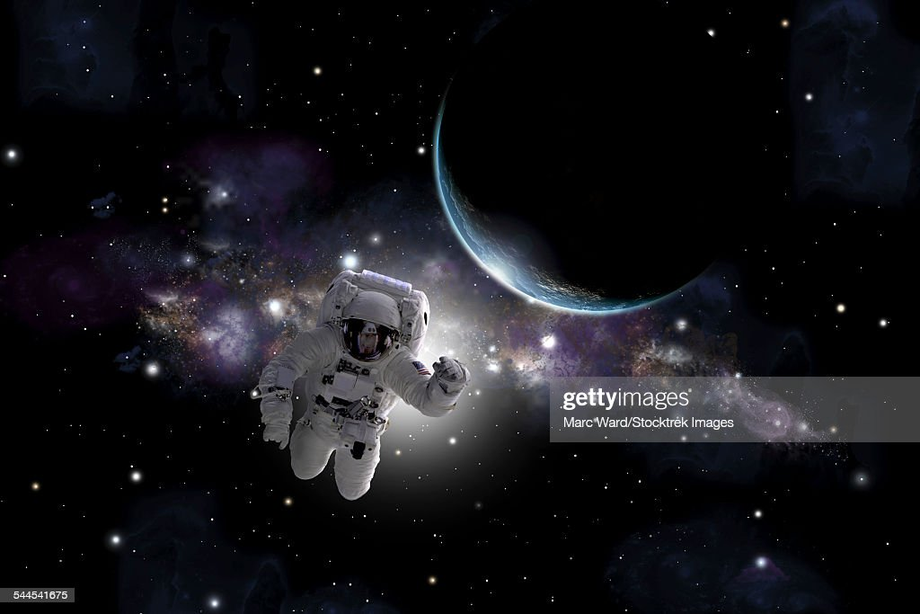 Artists Concept Of An Astronaut Floating In Outer Space High Res