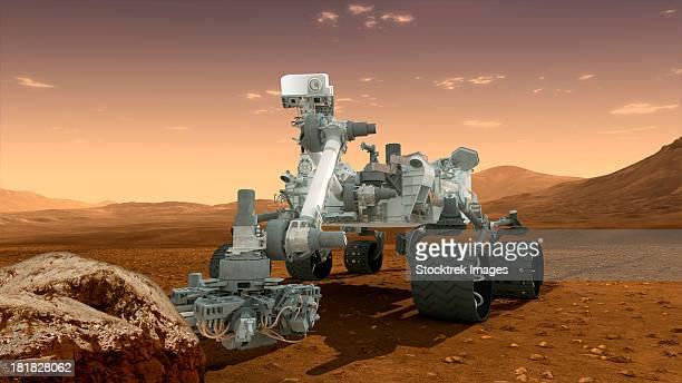 Artist's concept of NASA's Mars Science Laboratory Curiosity rover.