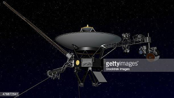 Artist's concept of one of the twin Voyager spacecraft.