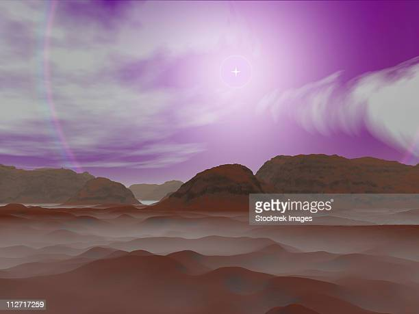 Artist's concept of the atmosphere on Pluto.