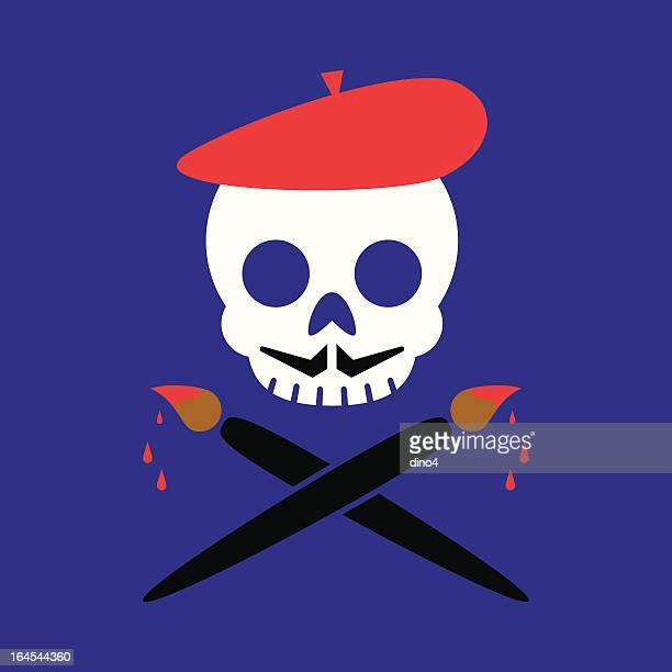 芸術的なロジャー - 海賊旗点のイラスト素材/クリップアート素材/マンガ素材/アイコン素材