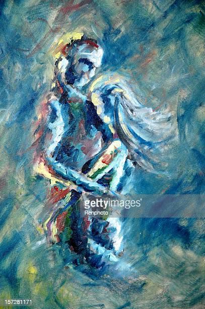 bildbanksillustrationer, clip art samt tecknat material och ikoner med artwork - couple embrace with passion - naket