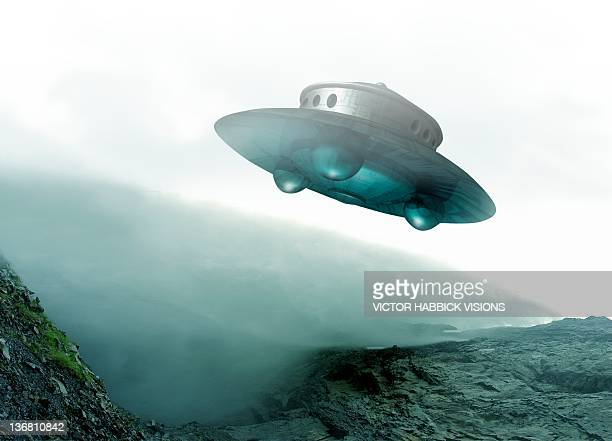 ufo, artwork - victor habbick stock illustrations