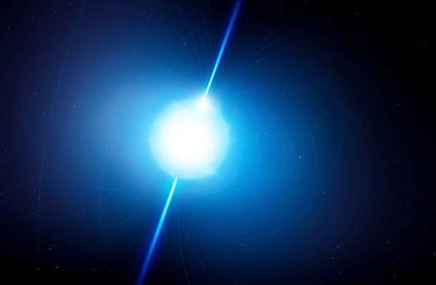 Artwork of a pulsar