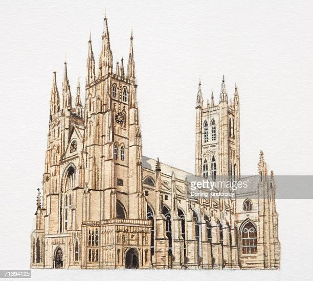 Artwork of Canterbury cathedral.