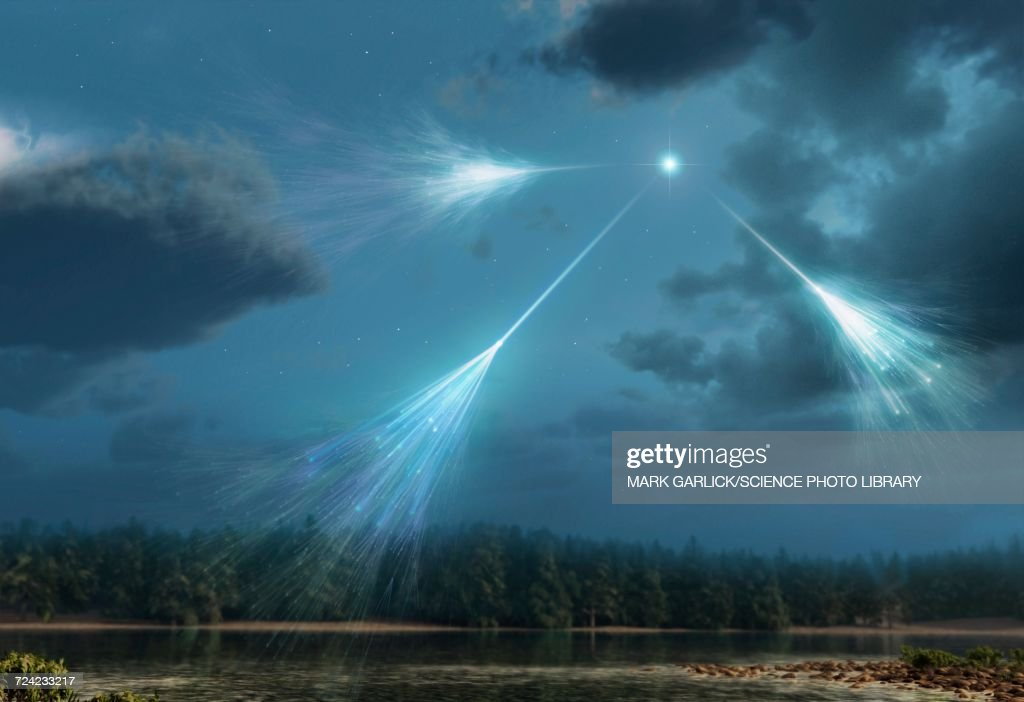 Artwork of Cosmic Rays : Stock Illustration
