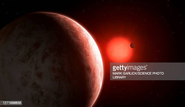 artwork of gliese 887 b and c - {{ collectponotification.cta }} stock illustrations