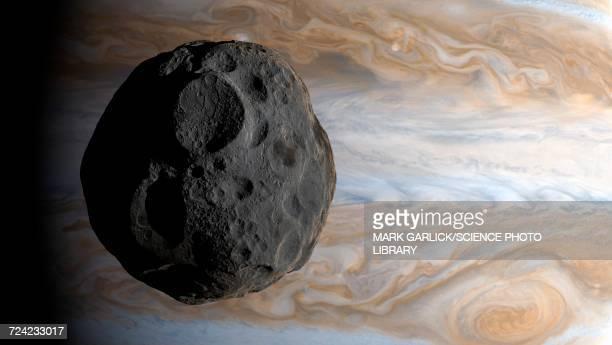 Artwork of Jovian moon Amalthea