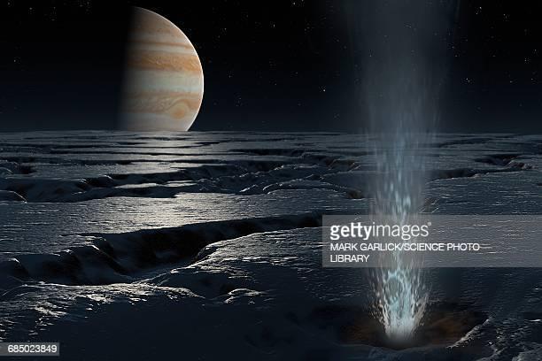 Artwork of Jupiter seen from Europa