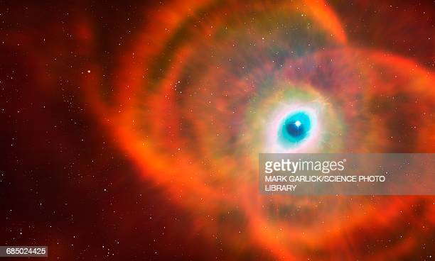 artwork of mycn18 hourglass nebula - hourglass stock illustrations