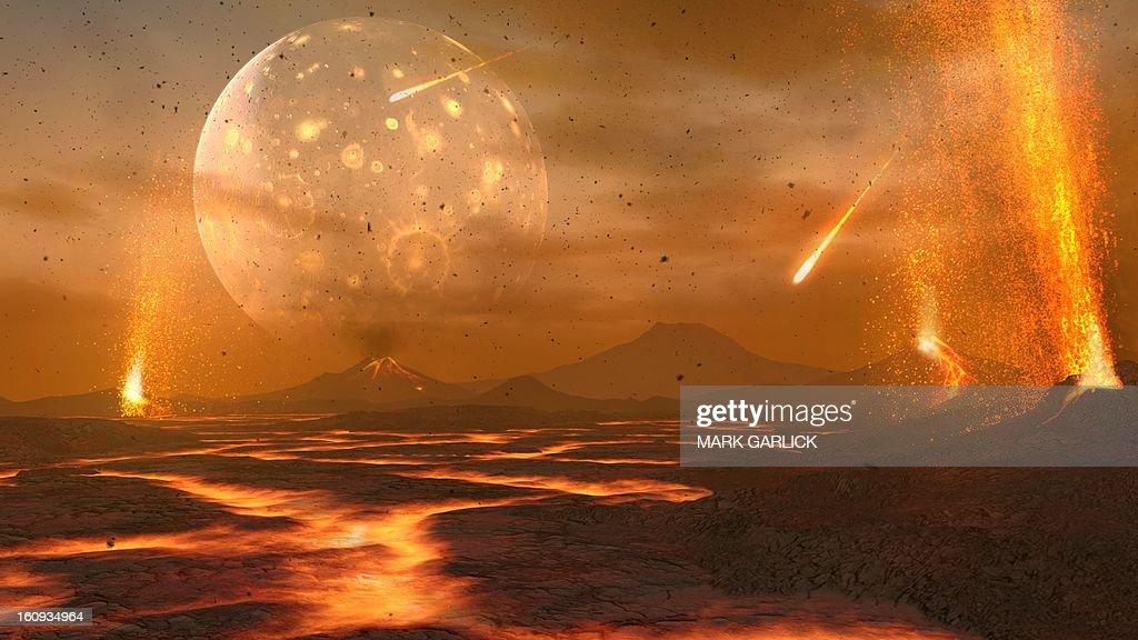 Artwork of the primordial Earth : stock illustration