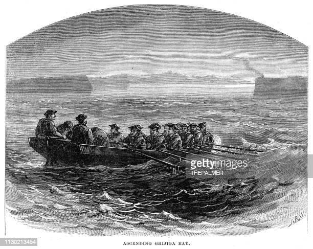 Ascending Ghijiga Bay engraving 1868