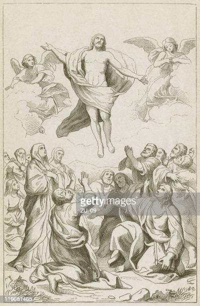 illustrations, cliparts, dessins animés et icônes de ascension et trinity-raphaël mengs de anton - ascension of jesus christ