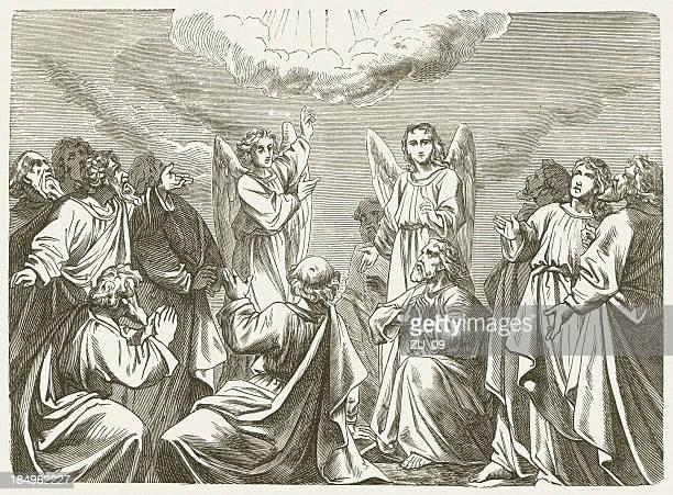 illustrations, cliparts, dessins animés et icônes de ascension - ascension of jesus christ