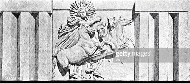 illustrations, cliparts, dessins animés et icônes de ascension de l'hélios, le dieu grec du soleil - dieu