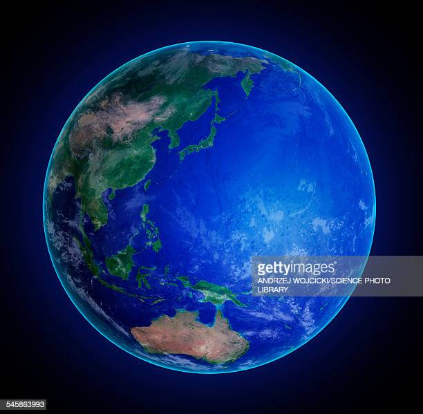 asia and pacific ocean, illustration - pacific ocean stock illustrations
