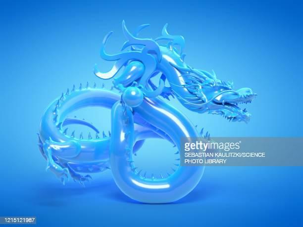 asian dragon statue, illustration - history stock illustrations