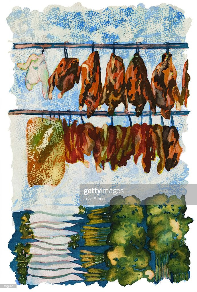 Asian Market : Stockillustraties
