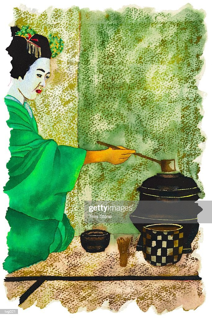 Asian Tea Ceremony : Stock Illustration