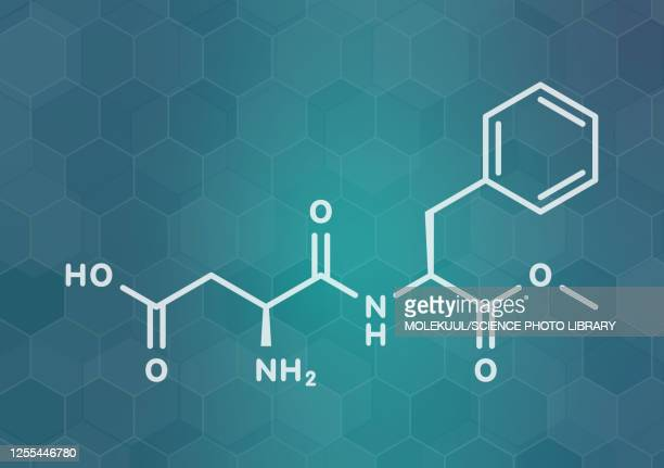 aspartame artificial sweetener molecule, illustration - safety stock illustrations