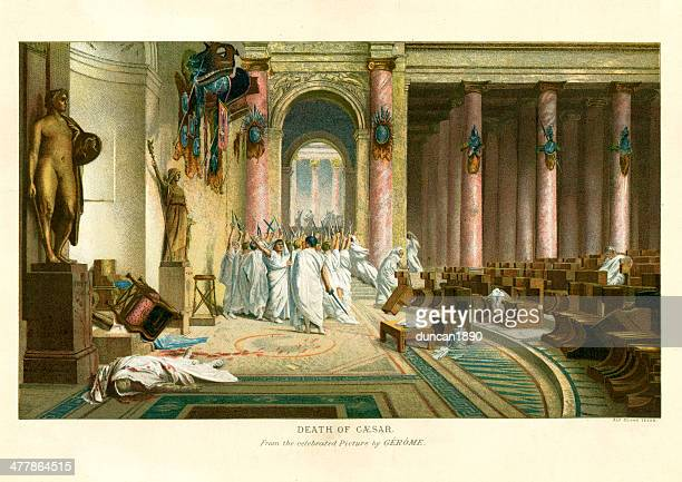 assassination of julius caesar - terminal illness stock illustrations, clip art, cartoons, & icons