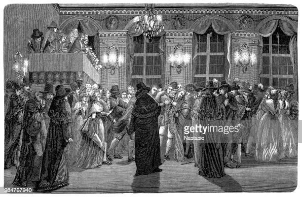 assassination of king gustav iii of sweden. - eastern europe stock illustrations, clip art, cartoons, & icons