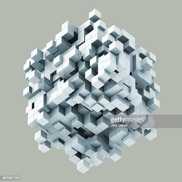 Assembling/dissolving cube structure