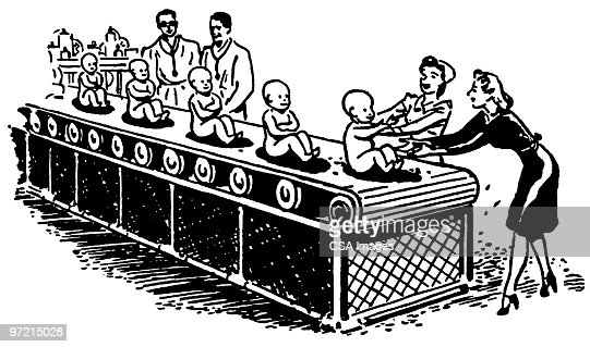 Assembly Line Stock Illustration | Getty Images