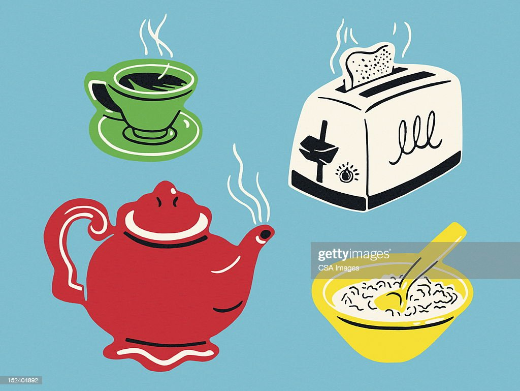 Assorted Breakfast Items : stock illustration