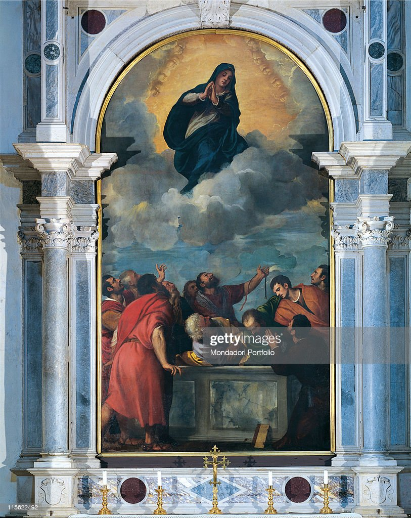 Assumption of the Virgin Mary, by Vecellio Tiziano known as Titian, 1532, 16th Century, canvas : Fine art