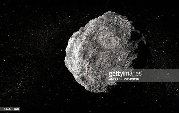 illustrazioni stock, clip art, cartoni animati e icone di tendenza di asteroid, artwork - meteorite
