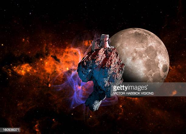 asteroid mining, artwork - 鉱業点のイラスト素材/クリップアート素材/マンガ素材/アイコン素材