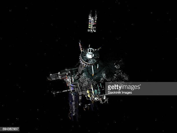 asteroid mining outpost. - 鉱業点のイラスト素材/クリップアート素材/マンガ素材/アイコン素材