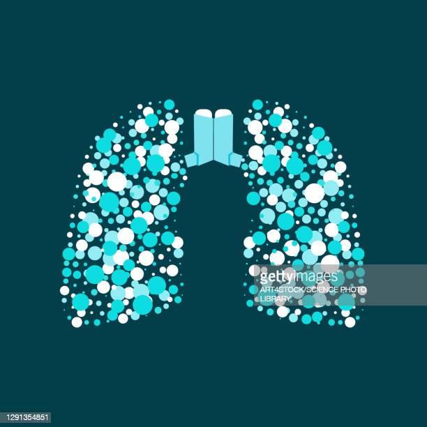 asthma, conceptual illustration - asthmatic stock illustrations