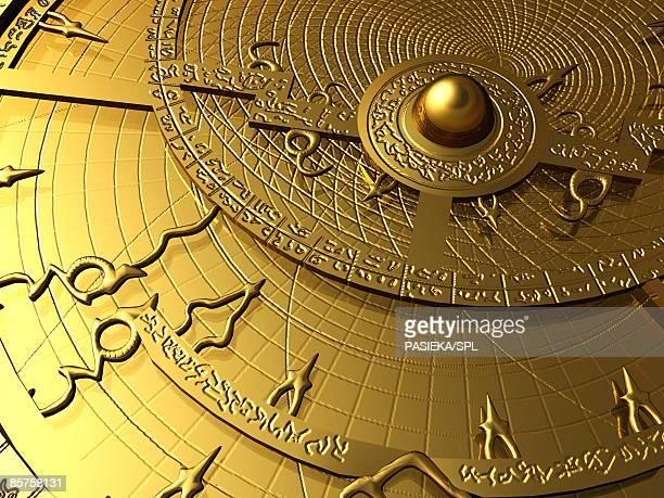 astrolabe - instrument of measurement stock illustrations