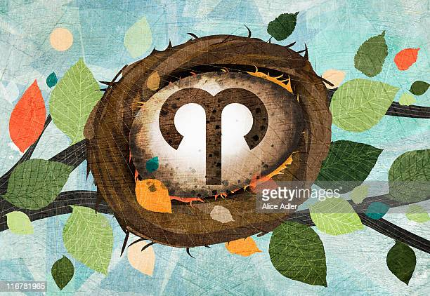 astrological sign of aries - branch stock illustrations