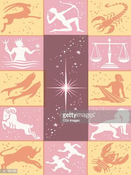 astrology - 12星座点のイラスト素材/クリップアート素材/マンガ素材/アイコン素材