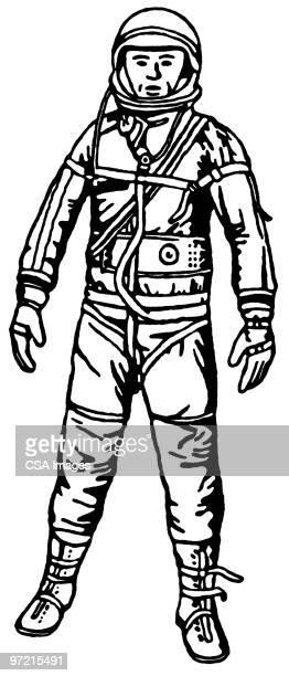 ilustraciones, imágenes clip art, dibujos animados e iconos de stock de astronaut - astronauta