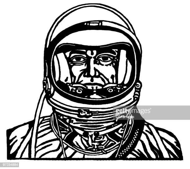 astronaut - helmet stock illustrations