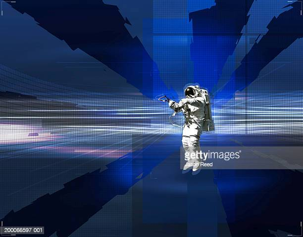 astronaut in space - astronaut stock illustrations, clip art, cartoons, & icons