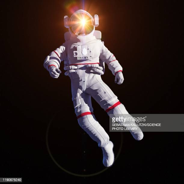 astronaut in space, illustration - artistic product stock illustrations