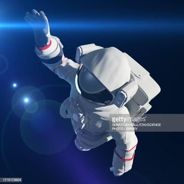 astronaut in space, illustration - helmet stock illustrations