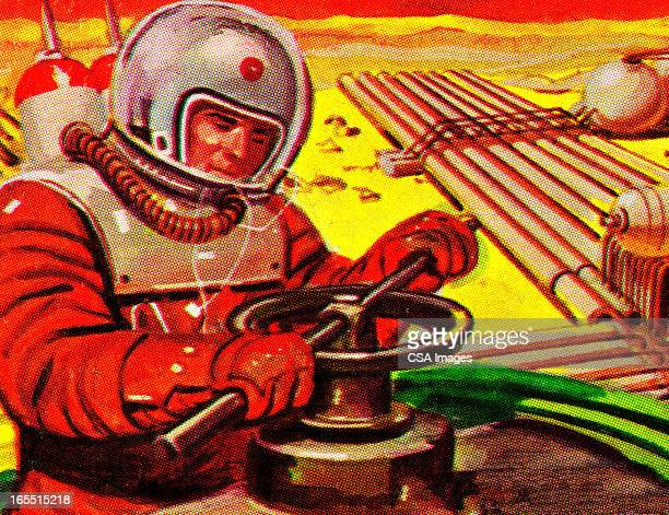 Astronaut Working in Outer Space