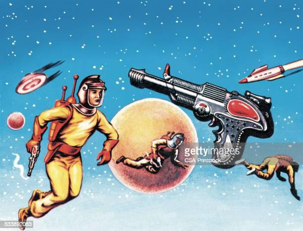 Astronauts e Ray arma no Espaço