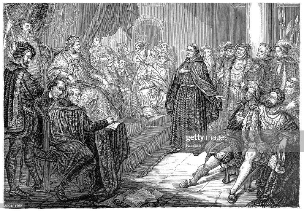 at the diet of worms luther defends his opinions before the emperor
