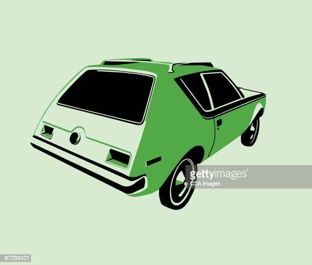 athlete - hatchback stock illustrations, clip art, cartoons, & icons