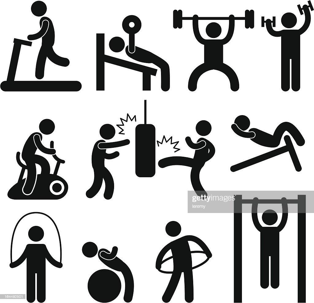 Athletic Gym Gymnasium Exercise Pictogram